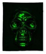 Skull In Green Fleece Blanket