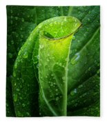 Skunk Cabbage Fleece Blanket