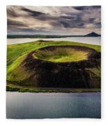 Skutustadagigar Pseudo Craters, Lake Fleece Blanket