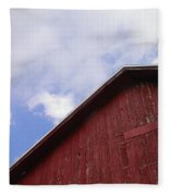 Sky And Barn Fleece Blanket