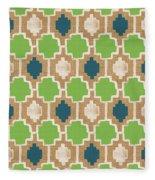 Sky And Sea Tile Pattern Fleece Blanket