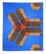 Sky Fortress Progression 4 Fleece Blanket