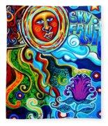 Sky Fruit Fleece Blanket
