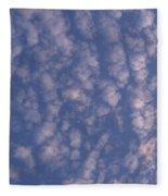 Sky Full Of Cloud Puffs Fleece Blanket