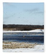 Sky Full Of Ducks Fleece Blanket