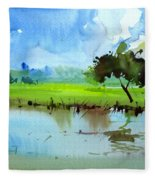 Sky N Farmland Fleece Blanket