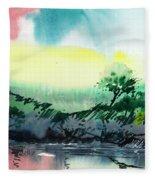 Sky N Lake Fleece Blanket