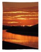 Sky On Fire Again Fleece Blanket