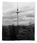 Sky Over Berlin Fleece Blanket