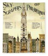Sky Scrapers Of Philadelphia 1896 Fleece Blanket