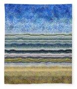 Sky Water Earth 2 Fleece Blanket