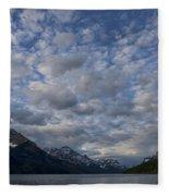 Sky Water Mountains Fleece Blanket