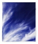 Sky Wisps Blue Fleece Blanket