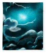 Sky With Romantic Rainy Cloud Fleece Blanket