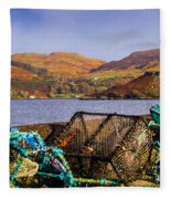 Skye Fishing Pots Fleece Blanket