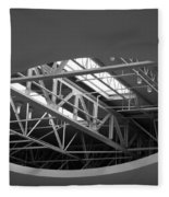 Skylight Gurders In Black And White Fleece Blanket