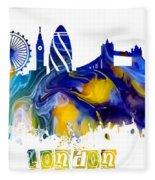 Skyline London England  Fleece Blanket