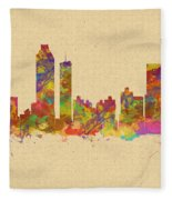 skyline of Atlanta Georgia Fleece Blanket