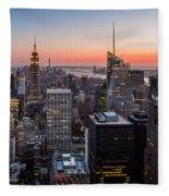 Skyscrapers Fleece Blanket