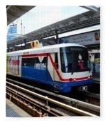 Skytrain Carriage Metro Railway At Nana Station Bangkok Thailand Fleece Blanket