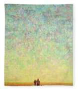 Skywatching In A Painting Fleece Blanket