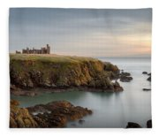 Slains Castle Sunrise Fleece Blanket