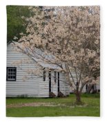 Slave Cabins At Magnolia Plantation - Summerville Sc Fleece Blanket