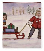 Sledding Fleece Blanket