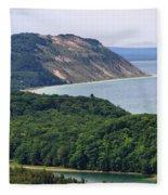 Sleeping Bear Dunes Overlook Fleece Blanket