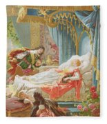 Sleeping Beauty And Prince Charming Fleece Blanket