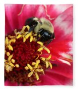 Sleeping Bumble Bee Fleece Blanket