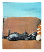 Sleeping Cat Fleece Blanket