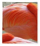 Sleeping Flamingo Fleece Blanket