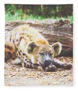 Sleeping Hyena Fleece Blanket