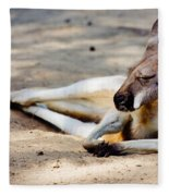 Sleeping Kangaroo Fleece Blanket