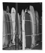 Sleeping Surfboards Fleece Blanket