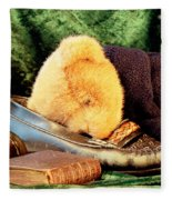 Sleeping Teddy Fleece Blanket