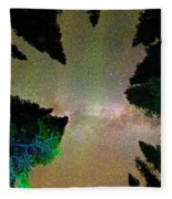 Sleeping Under The  Milky Way Stars Fleece Blanket