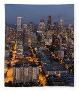 Sleepless In Seattle Fleece Blanket