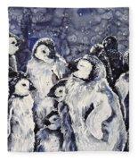 Sleepy Penguins Fleece Blanket