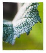 Slice Of Leaf Fleece Blanket by John Wadleigh