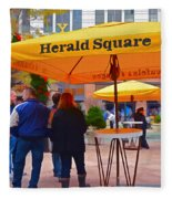 Slice Of Life Nyc-herald Square Fleece Blanket