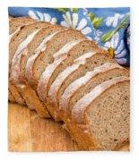Sliced Bread Fleece Blanket by Iris Richardson