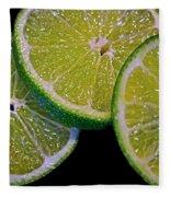 Sliced Limes Fleece Blanket