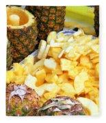 Sliced Pineapple Fleece Blanket