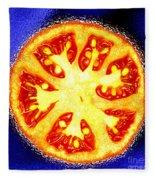 Sliced Tomato Fleece Blanket