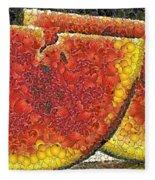 Slices Of Watermelon Fleece Blanket