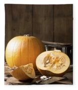 Slicing Pumpkins Fleece Blanket