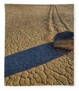 Sliding Rock Of Racetrack Playa Fleece Blanket