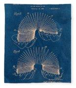 Slinky Toy Blueprint Fleece Blanket